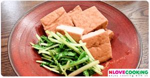 เต้าหู้นึ่งมิโซะ อาหารญี่ปุ่น เมนูเต้าหู้ เมนูนึ่ง