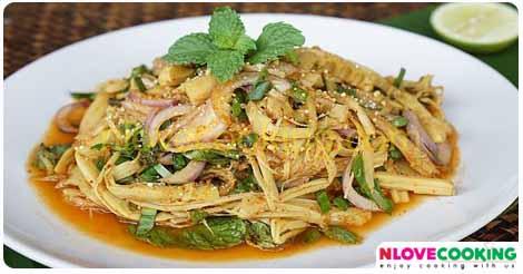 ซุปหน่อไม้ อาหารไทย อาหารอีสาน เมนูยำ