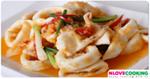 ปลาหมึกผัดไข่เค็ม อาหารไทย เมนูปลาหมึก เมนูผัด