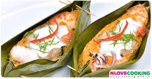 ห่อหมกทะเล อาหารไทย เมนูห่อหมก อาหารทะเล
