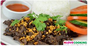 เนื้อวัวผัดกระเทียม อาหารญี่ปุ่น เมนูเนื้อวัว เมนูผัด