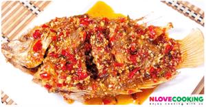 ปลาราดพริก อาหารไทย เมนูปลา เมนูทอด