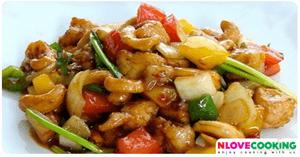 ไก่ผัดเม็ดมะม่วง อาหารไทย อาหารจีน เมนูไก่