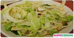 ผัดกะหล่ำปลี อาหารจีน เมนูผัด มังสาวิรัติ