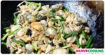 หอยผัดไข่ อาหารจีน เมนูหอย เมนูไข่