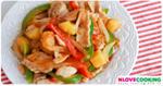 ผัดผักหมูหวาน อาหารเวียดนาม เมนูผัด เมนูหมู