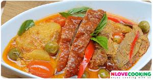 แกงเผ็ดเป็ดย่าง อาหารไทย เมนูแกงกะทิ เมนูเป็ด