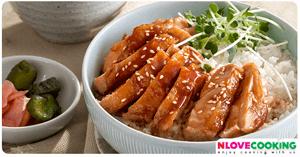 ข้าวไก่เทอริยากิ ไก่เทอริยากิ อาหารจานเดียว เมนูไก่