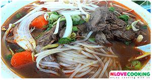 ขนมจีนทรงเครื่อง อาหารเวียดนาม เมนูเส้น เมนูเนื้อวัว