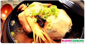 ไก่ตุ๋นโสมเกาหลี อาหารเกาหลี เมนูไก่ เมนูตุ๋น