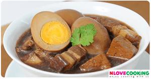 ไข่พะโล้ อาหารไทย อาหารจีน เมนูไข่