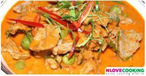 พะแนงเนื้อ แกงพะแนง อาหารไทย เมนูเนื้อวัว