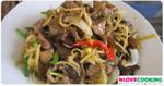 ไก่ผัดขิง อาหารไทย เมนูผัด เมนูไก่
