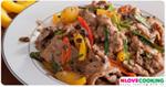 ผัดเนื้อ อาหารไทย เมนูผัด เมนูเนื้อวัว