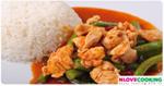 ไก่ผัดพริกแกง อาหารไทย เมนูไก่ ผัดพริกแกงไก่