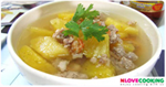 แกงจืดสับปะรด อาหารไทย เมนูแกง เมนูหมู