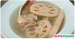 ซุปรากบัว ซุปรากบัวซี่โครงหมู อาหารจีน เมนูหมู