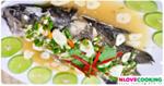 ปลากระพงขาวนึ่งมะนาว อาหารไทย เมนูปลา เมนูนึ่ง