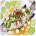ปลากระพงนึ่งมะนาว สูตรอาหาร เมนูปลากระพง เมนูนึ่ง