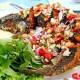 สูตรอาหารไทย : ปลาช่อนลุยสวน (Fried Fish with Mixed Herb )