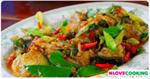 ปลาบึกผัดฉ่า อาหารไทย เมนูผัด เมนูปลา