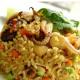 สูตรอาหารไทย : ข้าวผัดผงกะหรี่ทะเล (Fried rice with sea food curry)