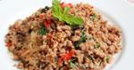 ผัดกระเพราวุ้นเส้นหมูสับ อาหารไทย เมนูผัด เมนูเส้น