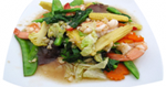 ผัดผักรวมมิตร เมนูผัด อาหารไทย อาหารทะเล