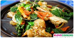 ผัดฉ่าทะเล อาหารไทย อาหารทะเล เมนูผัด
