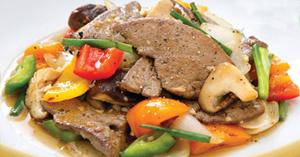 ตับหมูผัดพริกไทยดำ อาหารไทย เมนูตับ