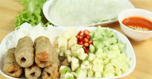 แหนมเนือง อาหารเวียดนาม เมนูย่าง เมนูหมู