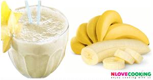 น้ำกล้วยโยเกิร์ต น้ำผลไม้ เมนูเครื่องดื่ม เมนูคลายร้อน