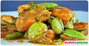 ปลาผัดสะตอ อาหารไทย อาหารใต้ เมนูปลา