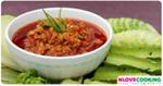 น้ำพริกอ่อง อาหารไทย เมนูน้ำพริก อาหารเหนือ