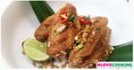 ปีกไก่คั่วพริกเกลือ อาหารไทย เมนูไก่ เมนูผัด