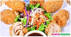 ไก่ม้วน อาหารไทย เมนูทอด เมนูไก่