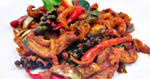 ผัดเผ็ดหมูป่า อาหารไทย เมนูหมู