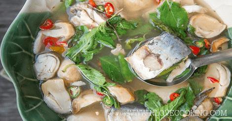 ต้มยำปลาทู อาหารไทย เมนูปลา ต้มยำปลา