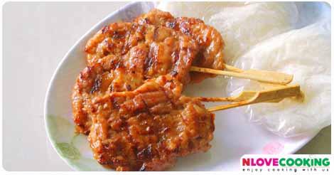 หมูปิ้ง หมูย่าง อาหารไทย เมนูหมู