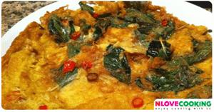 ไข่เจียวโหระพา อาหารไทย เมนูไข่ เมนูทอด