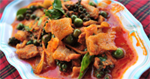 ผัดเผ็ดหมู อาหารไทย เมนูหมู