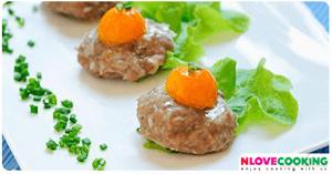 หมูสับนึ่งไข่เค็ม อาหารไทย เมนูไข่ เมนูหมู