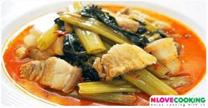 แกงเทโพ อาหารไทย เมนูแกง เมนูหมู