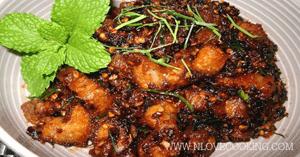น้ำพริกหมูกรอบ อาหารไทย เมนูน้ำพริก เมนูหมู
