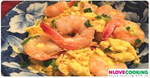กุ้งผัดไข่ อาหารไทย เมนูไข่ เมนูกุ้ง