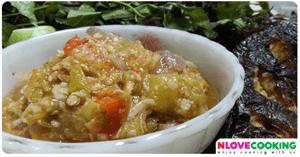 น้ำพริกขี้กา อาหารไทย เมนูน้ำพริก เมนูปลา