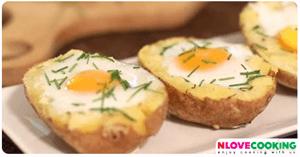 ไข่ดาวมันฝรั่งทอด อาหาร เมนูไข่ เมนูทอด