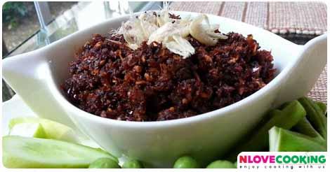 น้ำพริกเผากุ้ง น้ำพริกโบราณ อาหารไทย สูตรน้ำพริก
