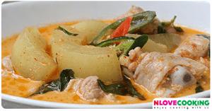 แกงไก่ใส่ฟักหม่น อาหารเหนือ อาหารไทย เมนูไก่