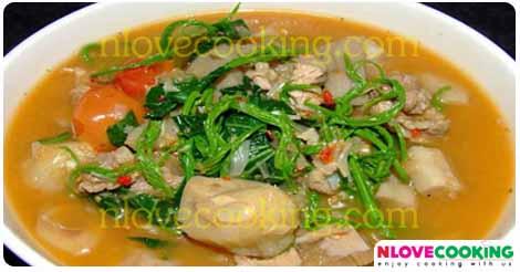 แกงขนุนซี่โครงหมู แกงบ่าหนุน อาหารไทย อาหารเหนือ